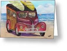 Woody On Beach Greeting Card