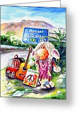 Woolhelmina The Scottish Sheep Playing Flamenco Greeting Card