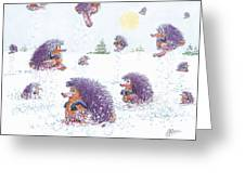 Woolly Snow Hoppers Greeting Card