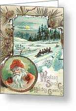 Woolson Spice Company Christmas Card Greeting Card