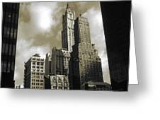 Old New York Photo - Historic Woolworth Building Greeting Card