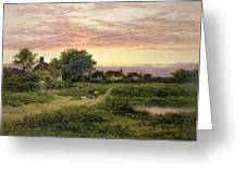 Worcestershire Cottages Greeting Card