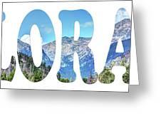 Word Art...  Colorado Greeting Card
