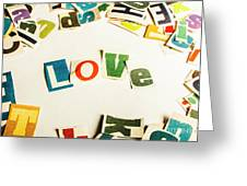 Word Of Love Greeting Card