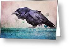Words Of A Raven Greeting Card