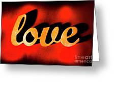 Words Of Love And Retro Romance Greeting Card