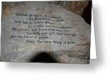 Words Of Wisdom Greeting Card by Gordon Taylor