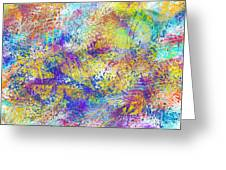 Work 00101 Abstraction Greeting Card