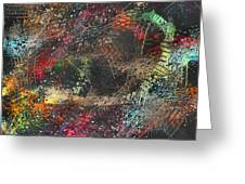 Work 00101 Abstraction Variant 2 Greeting Card