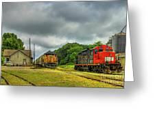 Work Horse Trains 3 Madison Georgia Locomotive Art Greeting Card