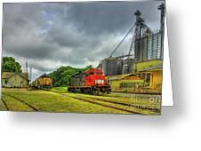 Work Horse Trains 7 Madison Georgia Locomotive Art Greeting Card
