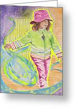 Work The Wind Greeting Card