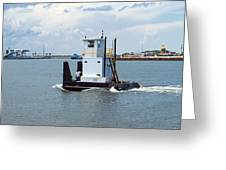 Workboat At Port Canaveral In Florida Greeting Card