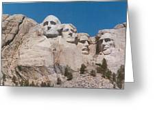Workers On Mt. Rushmore Greeting Card