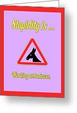Working Bigstock Donkey 171252860 Greeting Card