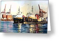 Working Boats -seattle  Greeting Card