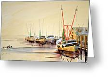 Working Boats Greeting Card
