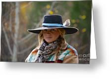 Working Cowgirl Greeting Card