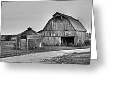 Working Farm Barn And Storage Bin Greeting Card
