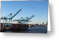 Working The Port Of New Orleans Greeting Card