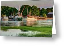 Working Waterfront Greeting Card