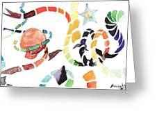 World And Stars Greeting Card