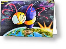 World Color Bee Greeting Card