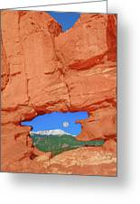 World-famous Pikes Peak Framed By What We Call The Keyhole  Greeting Card