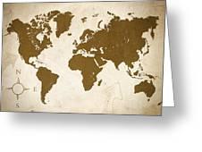 World Grunge Greeting Card