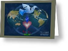 World Healing Inspirational Greeting Card