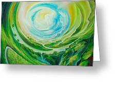 World In Movement Greeting Card
