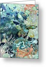 World In The Sea Greeting Card