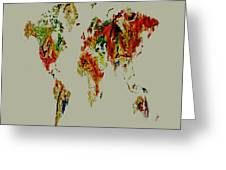 World Map 02a Greeting Card