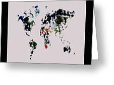 World Map 14b Greeting Card