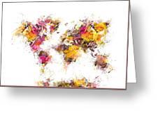World Map 2033 Greeting Card