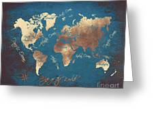 World Map 2065 Greeting Card