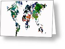 World Map 8b Greeting Card