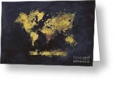 World Map Art 65 Greeting Card