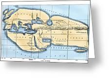 World Map: Eratosthenes Greeting Card