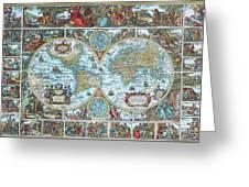 World Map Greeting Card