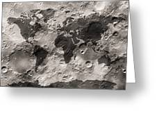World Map On The Moon's Surface Greeting Card