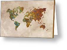 World Map Oriental Greeting Card