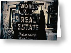 World Real Estate Chicago Greeting Card