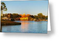 World Showcase Lagoon Before The Show Walt Disney World Greeting Card