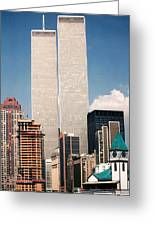 World Trade Center 1990 Greeting Card