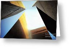 World Trade Center Towers And The Ideogram 1971-2001 Greeting Card
