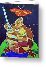 World Turtle King Of Swords Greeting Card