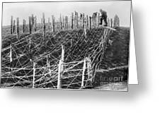 World War I Barbed Wire Greeting Card