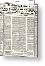 World War I: Declaration Greeting Card