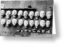 World War I Masks, 1918 - To License For Professional Use Visit Granger.com Greeting Card